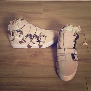 Jeffrey Campbell High top sneakers with buckles